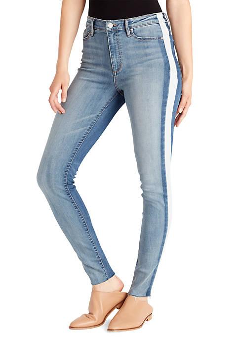 Ella Moss Two-Tone High Rise Skinny Jeans