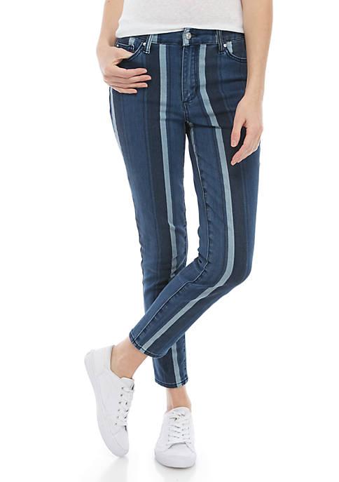 Ella Moss High Waist 2 Tone Skinny Jeans