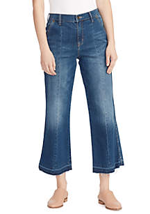 Ella Moss Crop Wide Leg Denim Pants