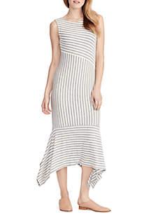 Ella Moss Kaylee Sleeveless Stripe Midi Dress