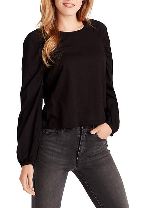 Taylor Long Shirred Sleeve Knit Top
