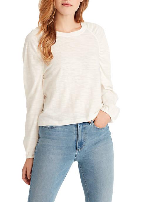 Ella Moss Taylor Long Shirred Sleeve Knit Top
