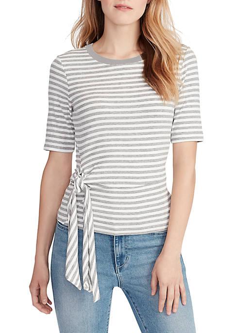 Chloe Stripe Short Sleeve Top