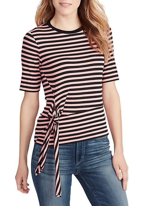 Ella Moss Chloe Stripe Short Sleeve Top