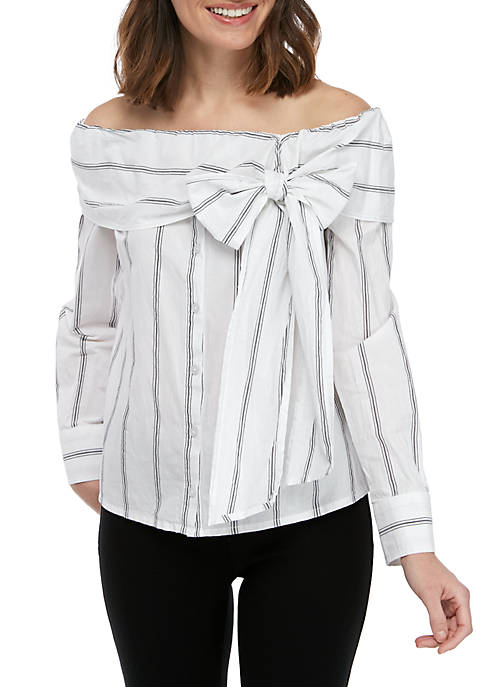 Ella Moss Rosemary Stripe Off the Shoulder Top