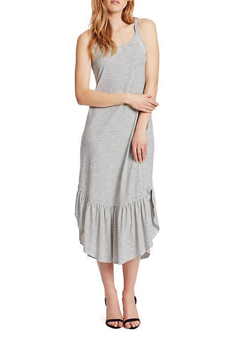 Ella Moss Mina Shirred Hem Shirttail Dress