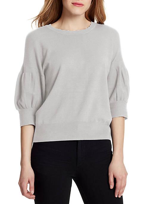 Ella Moss Meghan Elbow Sleeve Band Bottom Pullover