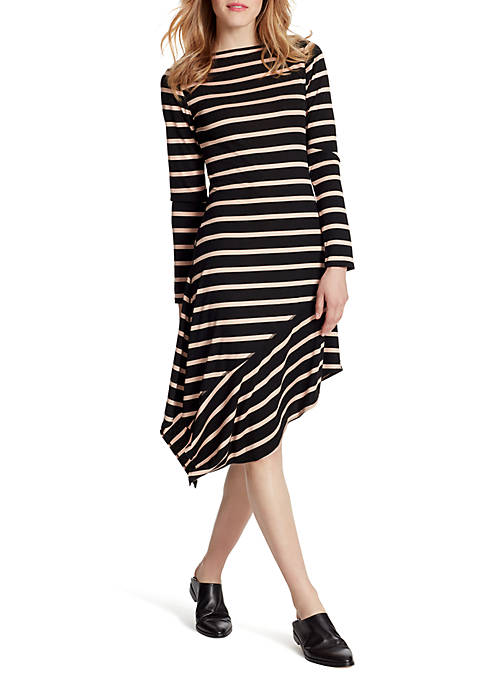 Rhea Long Sleeve Stripe Dress