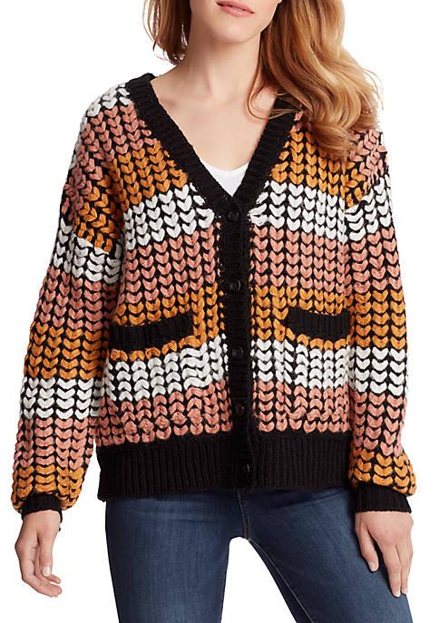 Womens Elyse Stripe Cardigan