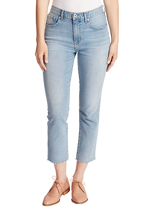 Ella Moss Womens High Rise Slim Straight Ankle