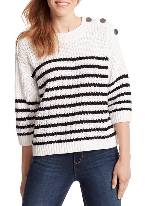 Ella Moss Womens Romi Mock Neck Sweater