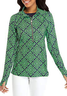 Crown & Ivy™ Performance Half Zip Jacket