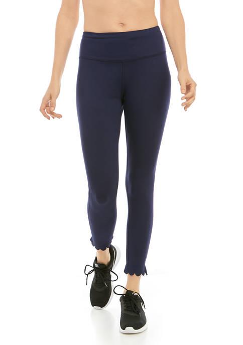 Crown & Ivy™ Womens Scallop Hem Leggings