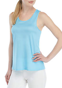 Crown & Ivy™ Scalloped Cross Back Racer Top