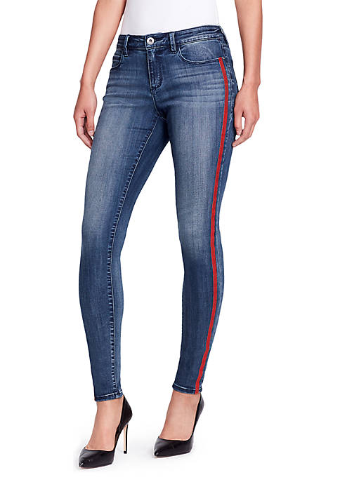 Skinny Red Side Stripe Jeans