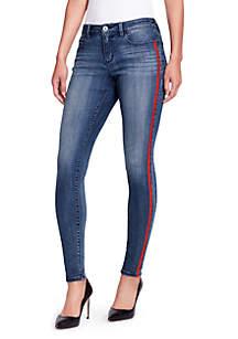 Skinny Red Side Stripe Jeans