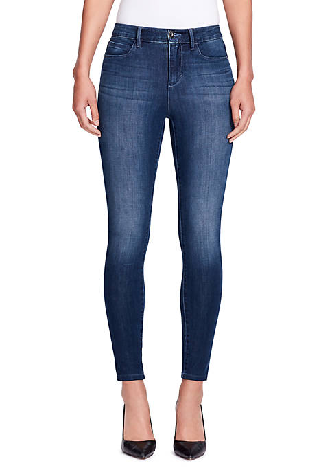 Skinny Girl Dark High Rise Skinny Ankle Jeans