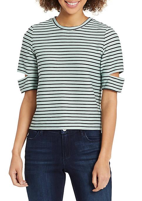 Skinny Girl Kate Slit Arm Jacquard Top
