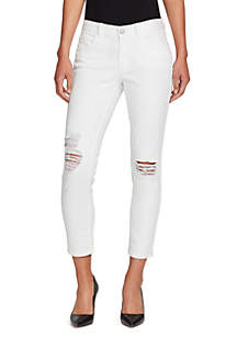 Skinny Girl Mid Rise Straight Ankle Jeans