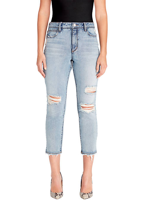 Straight High Rise Crop Jeans