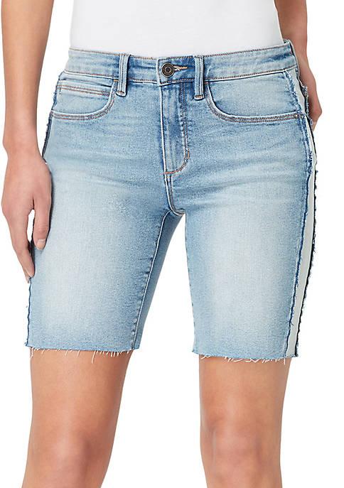 Skinny Girl Paneled Long Shorts