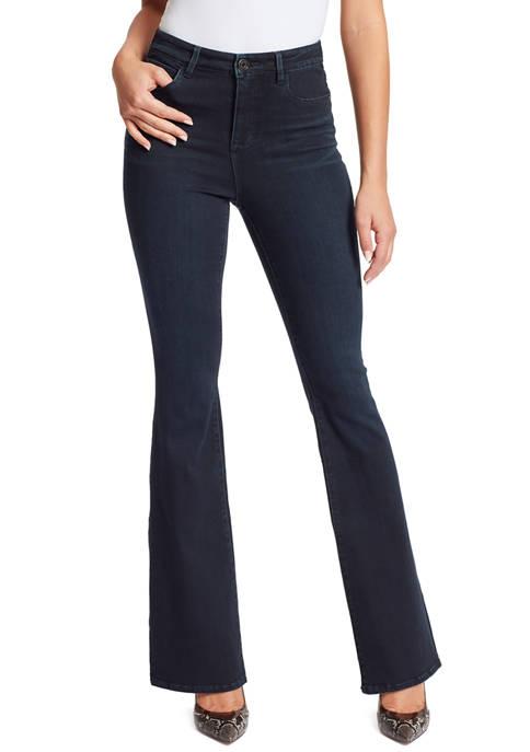 Skinny Girl Womens High RIse Flare Jeans