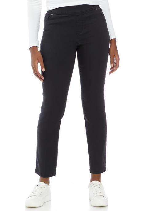 Womens Cotton Straight Leg Pants