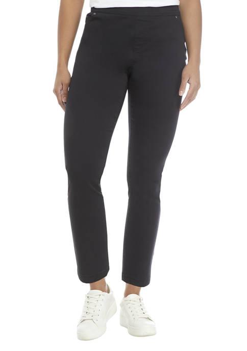 Petite Cotton Blend Pants
