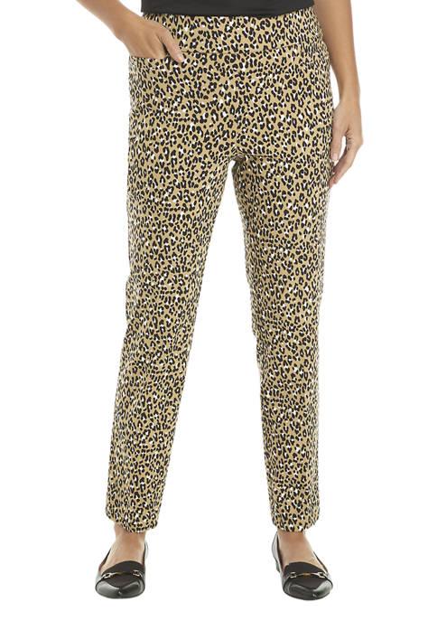 Kim Rogers® Womens Leopard Print Pull On Pants