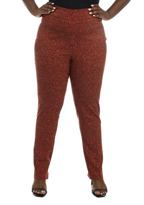 Kim Rogers® Plus Size Millennium Printed Average Pants