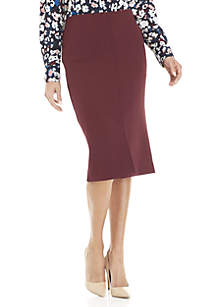Pencil Skirt with Front Vent
