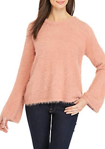 Long Flare Sleeve Sweater