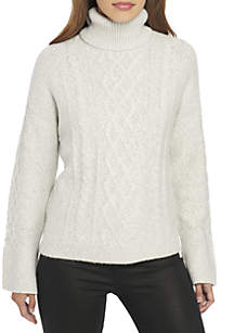 Long Sleeve Multi Cable Sweater
