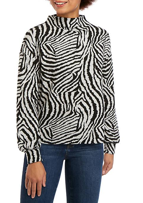 Ellen Tracy Funnel Neck Sweatshirt