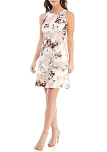 Embellished Sleeveless Petal Flounce Dress