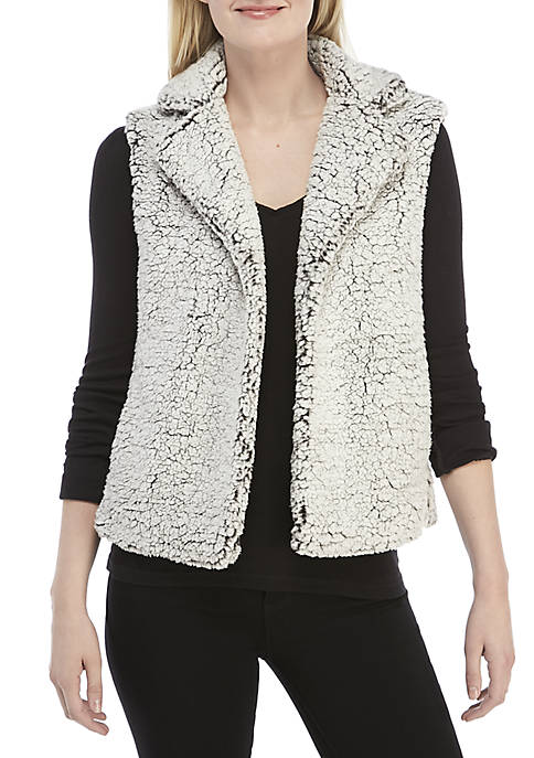 Ellen Tracy Short Fur Vest