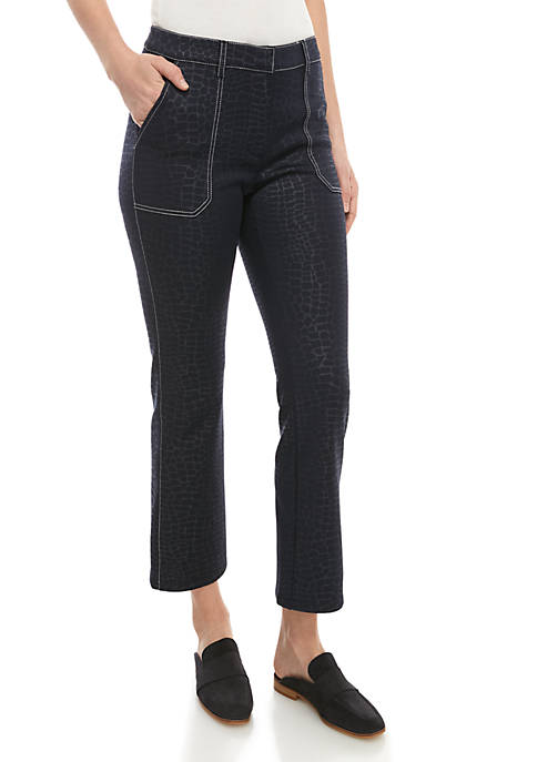 Ellen Tracy Croc Kick with Stitch Pants