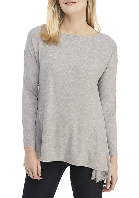 Ellen Tracy Rib Knit Top