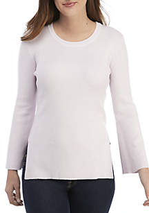 Ellen Tracy Flare Sleeve Sweater