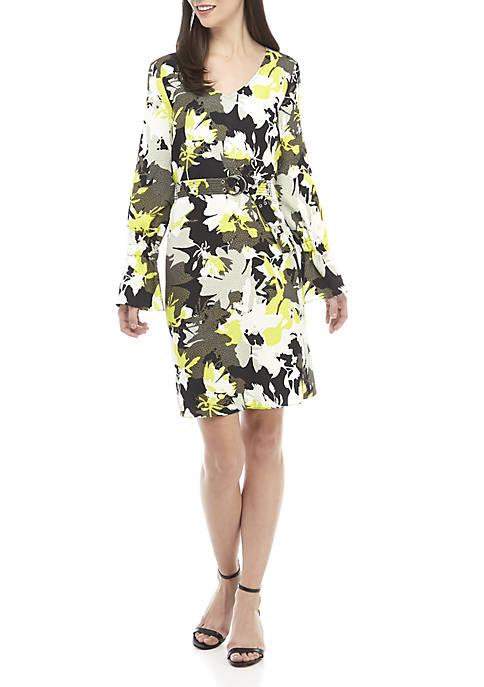 Ellen Tracy Belted Shift Dress