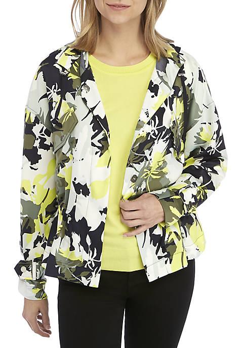 Ellen Tracy Bosque Cinched Hood Jacket