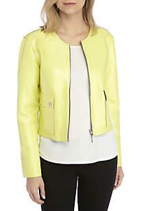 Ellen Tracy Zip Front Reversible Jacket