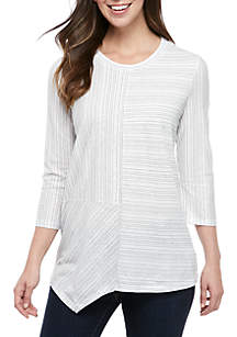 604651276fdaa ... Ellen Tracy 3 4 Sleeve Crew Neck Top