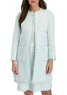 Ellen Tracy Side Split Pack Pocket Jacket