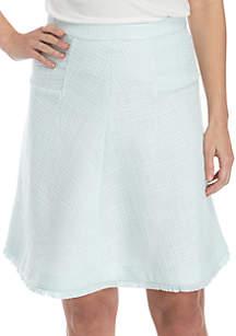 Ellen Tracy Seamed Flare Skirt