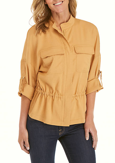 Ellen Tracy Double Breasted Pocket Jacket