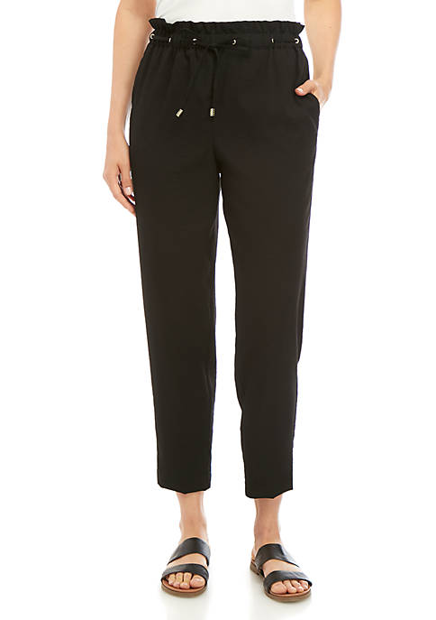 Ellen Tracy Paperbag Waist Pants