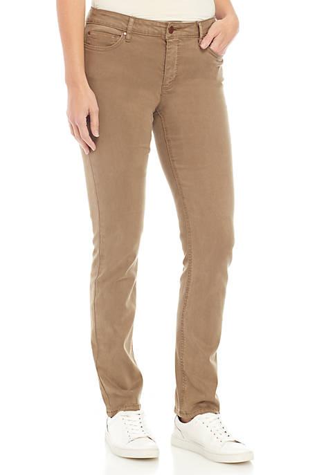 Jones New York Lexington Straight Denim Pants