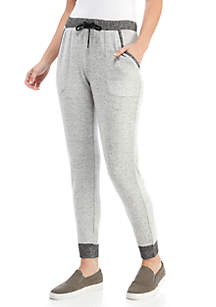 Pull On Joggers with Ribbed Trim