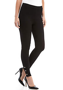 Snap Split Ankle Leggings